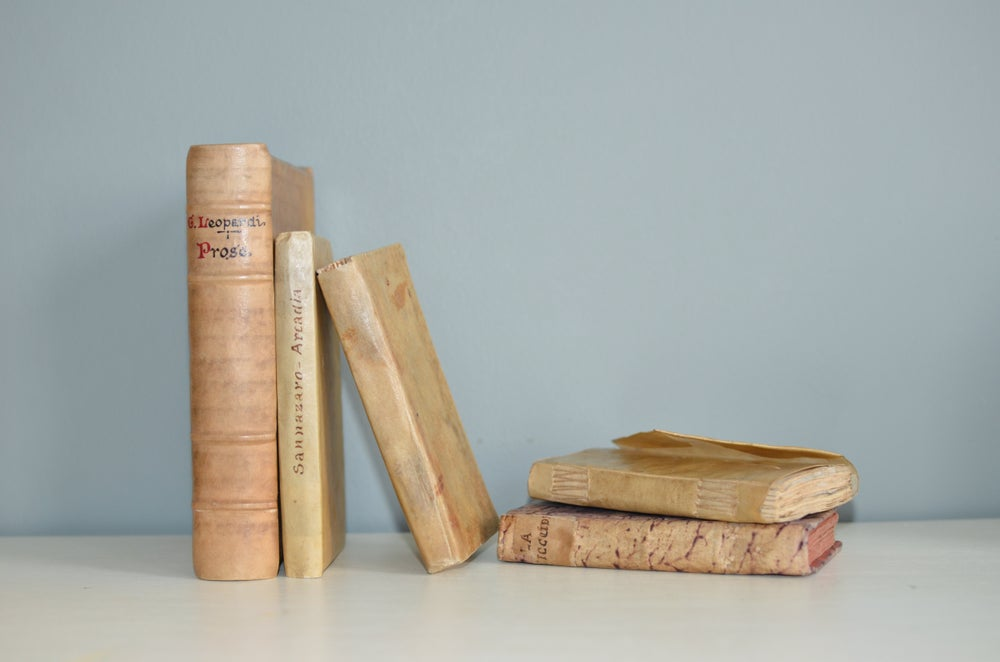 Image of A decorative collection of Antiquarian Italian books