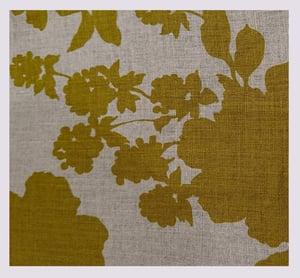 Image of Tissu: mustard vegetable shadows