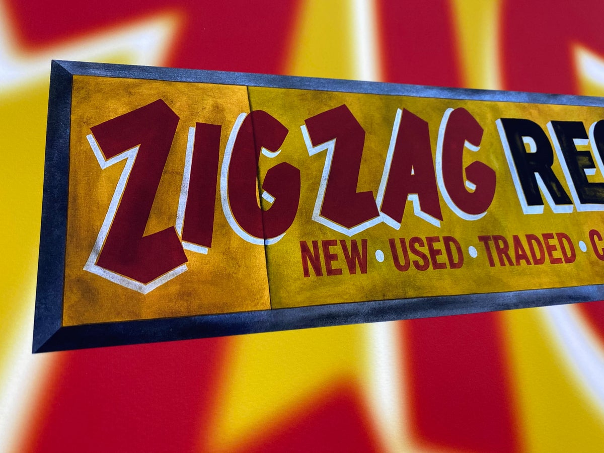 Image of Zig Zag Records - Archival Print