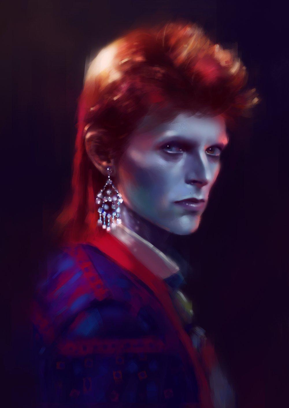Eftristesse- Bowie Inspired Art Print Collaboration (Set of 3)
