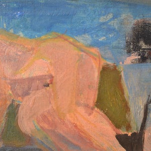 Image of Mid-Century French Painting of a Reclining Woman