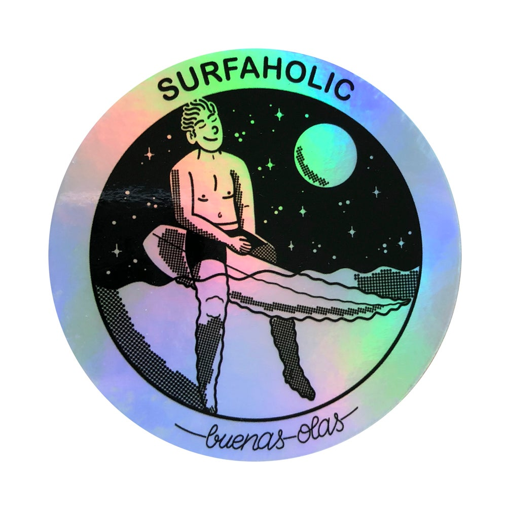 Image of Surfaholic holographic sticker