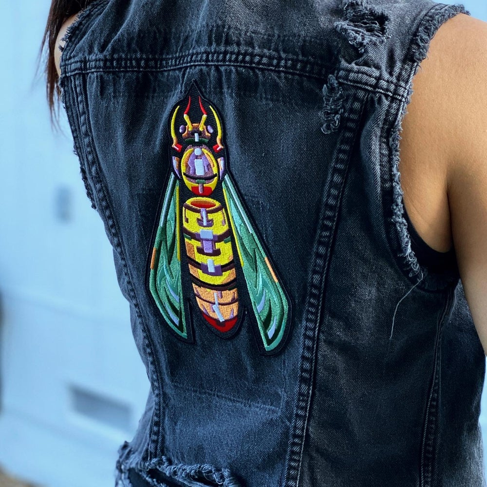 XL Embroidered Wasp Back Patch