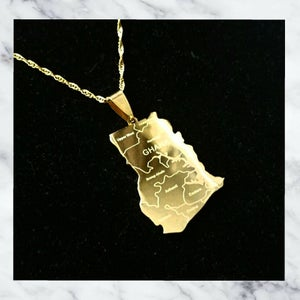 Image of GHANA MAP NECKLACE