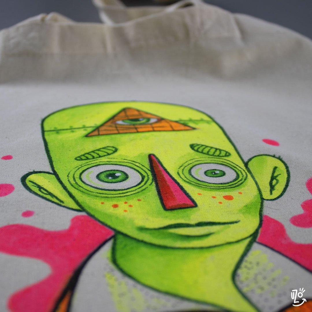 Image of Original Tote Bag - Neon Dude