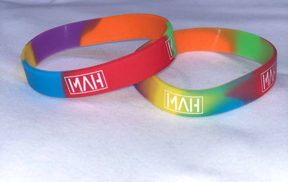 Image of Multicoloured wristbands x 2