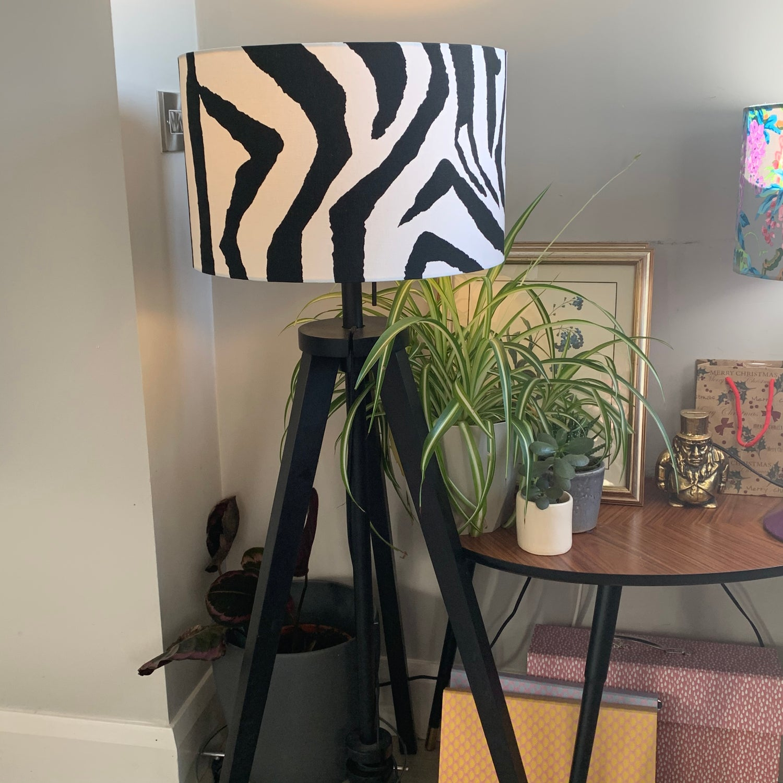 Image of Zebra Black Shade 40cm