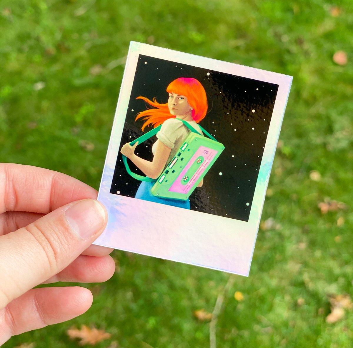 Iridescent Space Cadetter Sticker