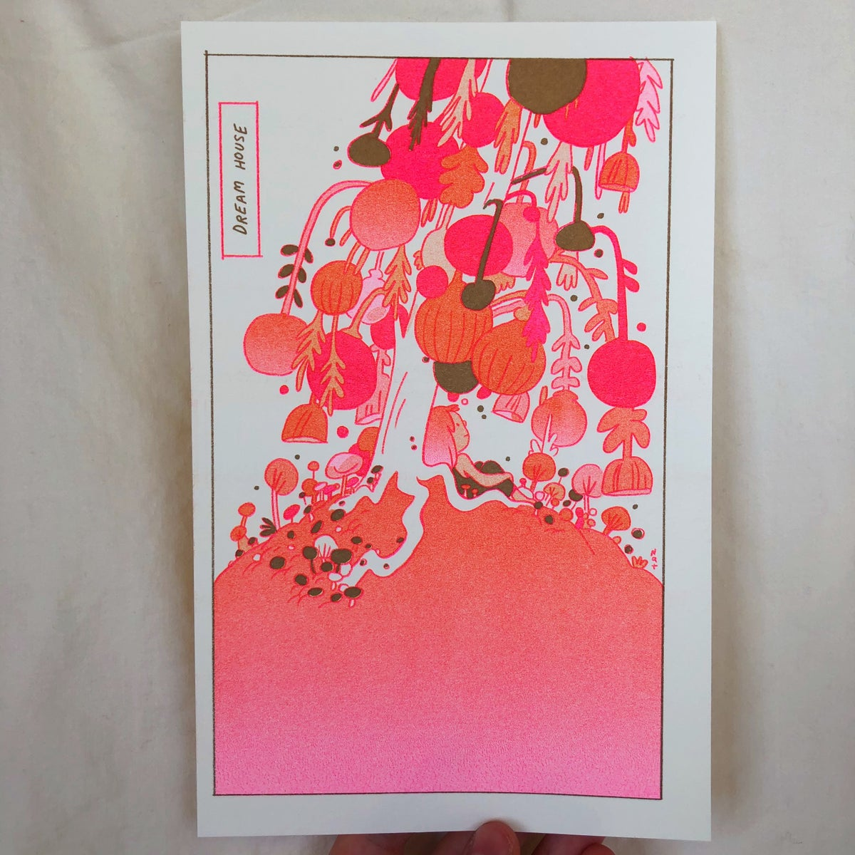 Image of Dream House Metallic Gold Riso Print