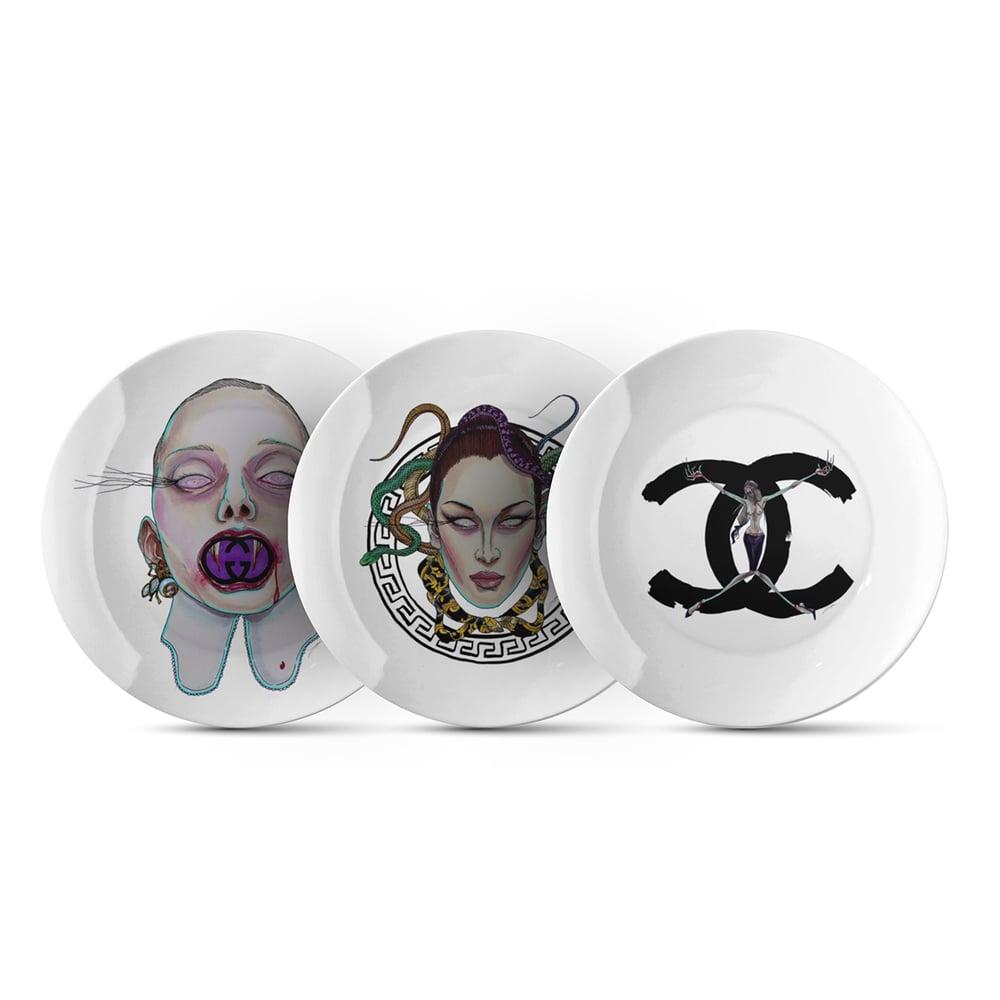 Image of BONE🦴APPETIT – Decorative Plates | Set of 3 Plates