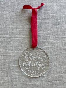 Image of Flourished Engraved Acrylic Ornament