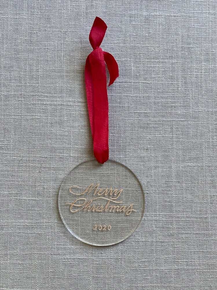 Image of Simple Engraved Acrylic Ornament