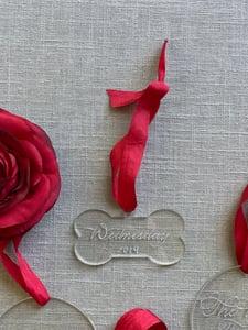 Image of Dog Bone Engraved Acrylic Ornament