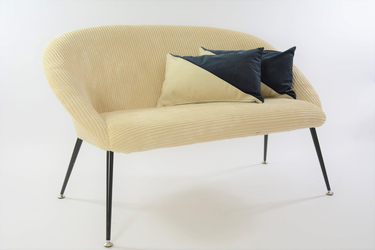 Image of Banquette coquille ronde ivoire