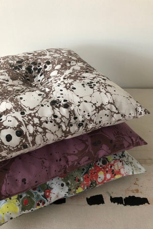 Image of Button Pillow - Amethyst