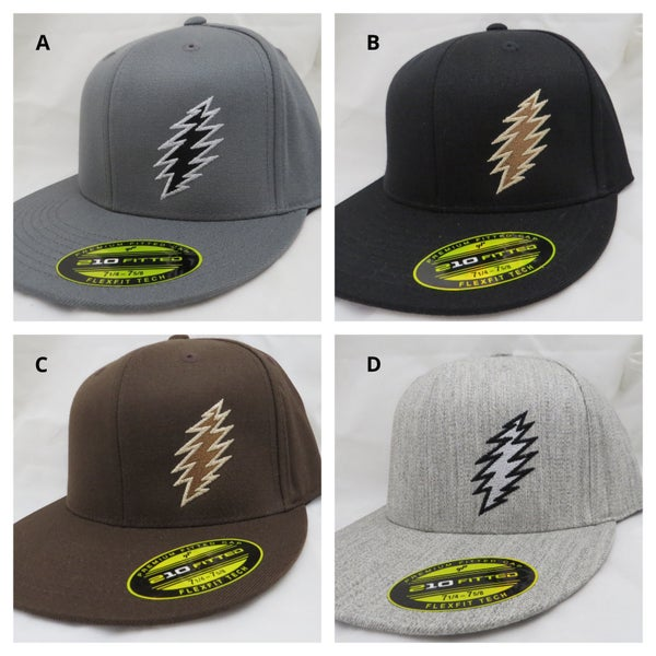 Image of Large/ XLarge Flex Fit Bolt hats (flat brim)