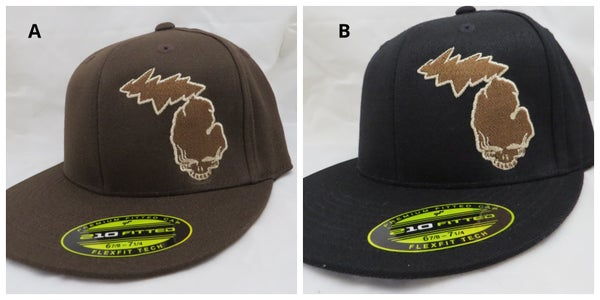 Image of Grateful Michigan Small/ Medium Flex Fit (Flat Brim)