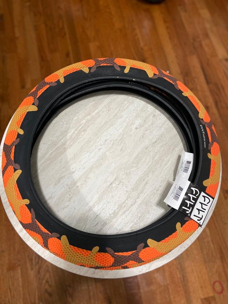 "Image of Vans x Cult Tire 20"" / orange camo (single)"
