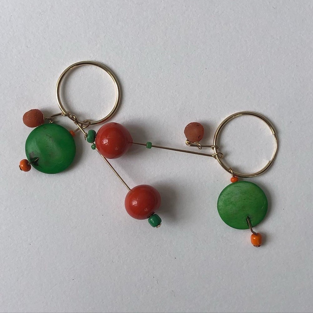 Image of Orange Summer Earrings