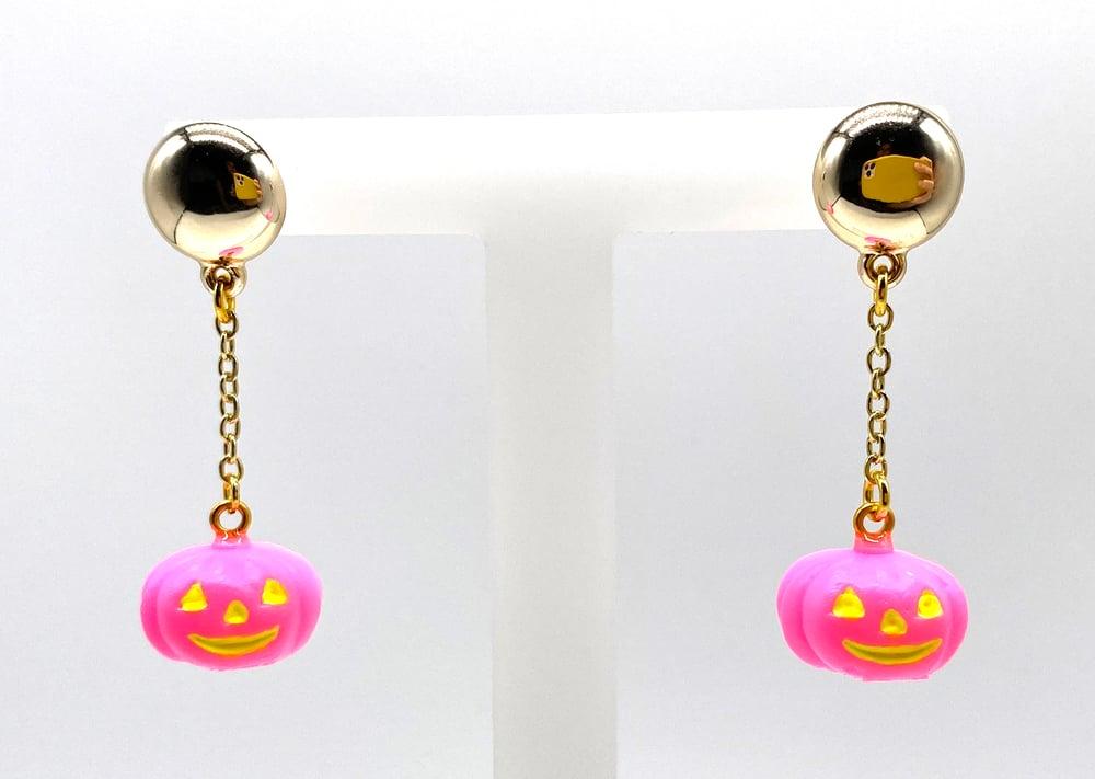 Image of Halloween Pumpkin Dangle earrings