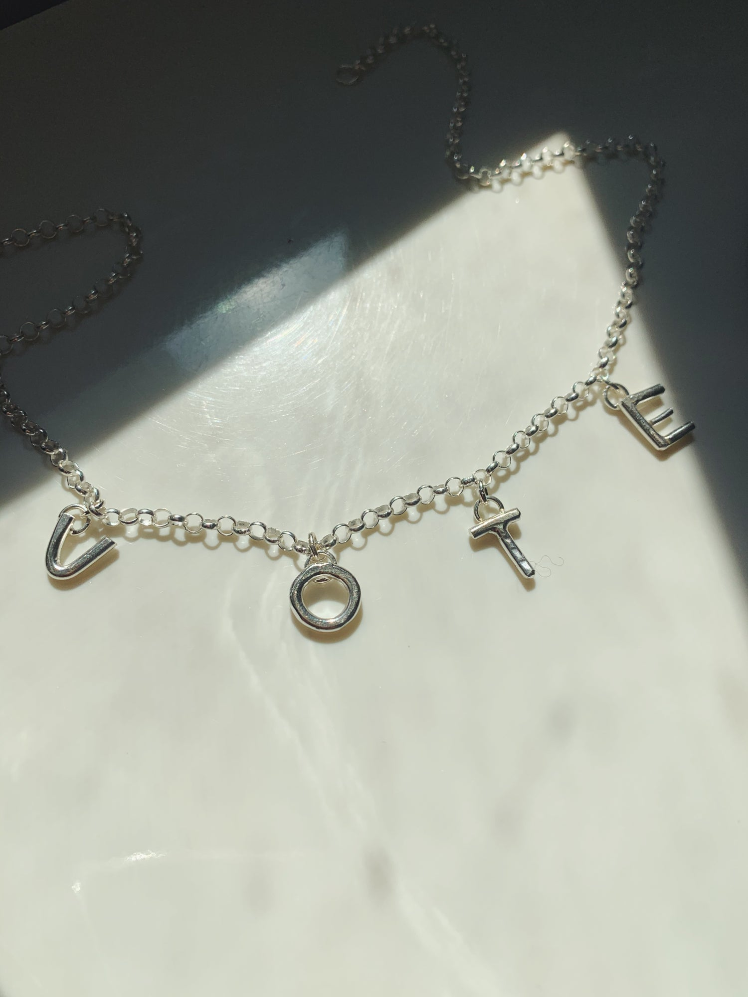 Image of V-O-T-E  Charm Necklace