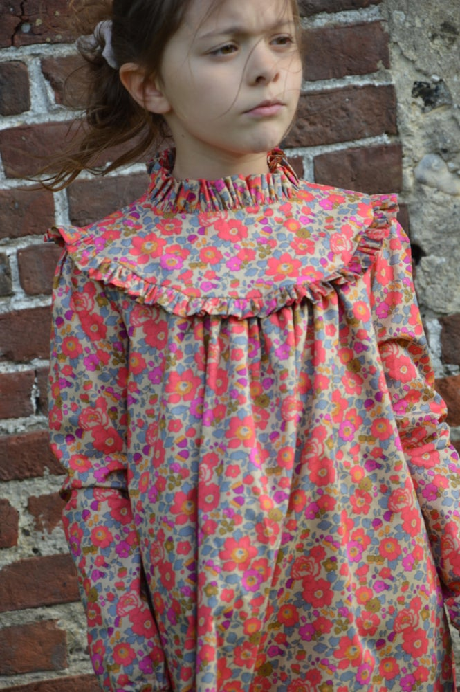 Image of Robe liberty betsy fluo th col montant