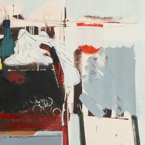 Image of 1979,  Swedish Painting, Still Life with Bottles. ELMER HEMMINGSHOLT