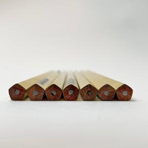 Golden Pentangular 'Good Luck' pencil
