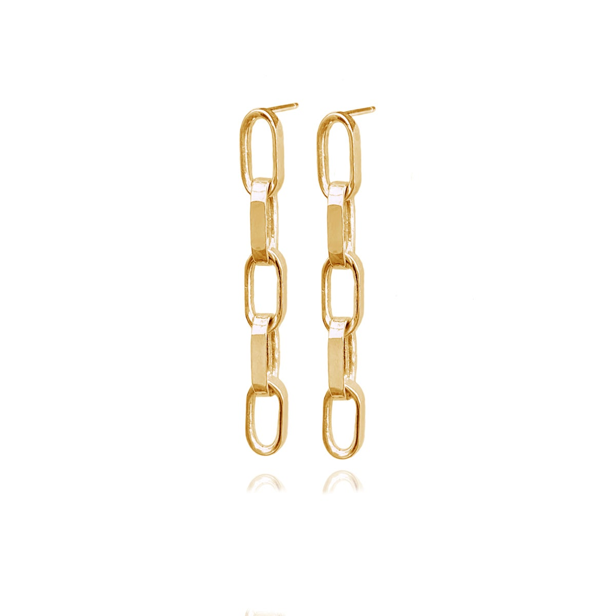 Image of Gold chunky chain-link earrings