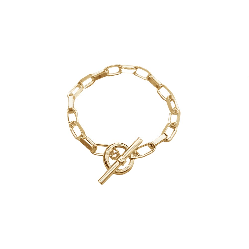 Image of Gold chunky chain bracelet