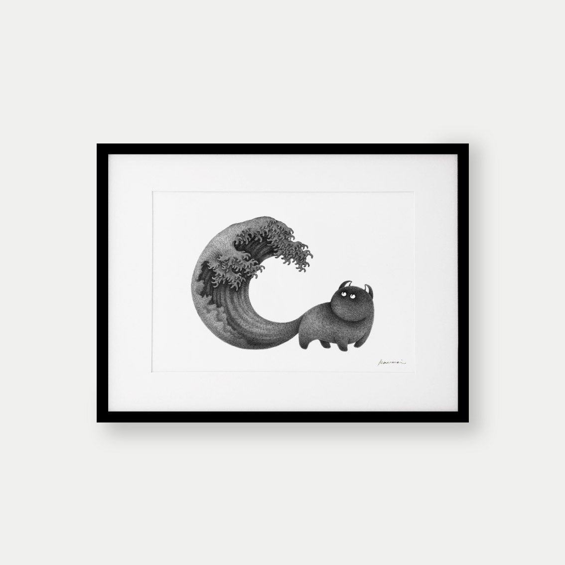 Image of Kitty No.9 – A4 Open Edition Print