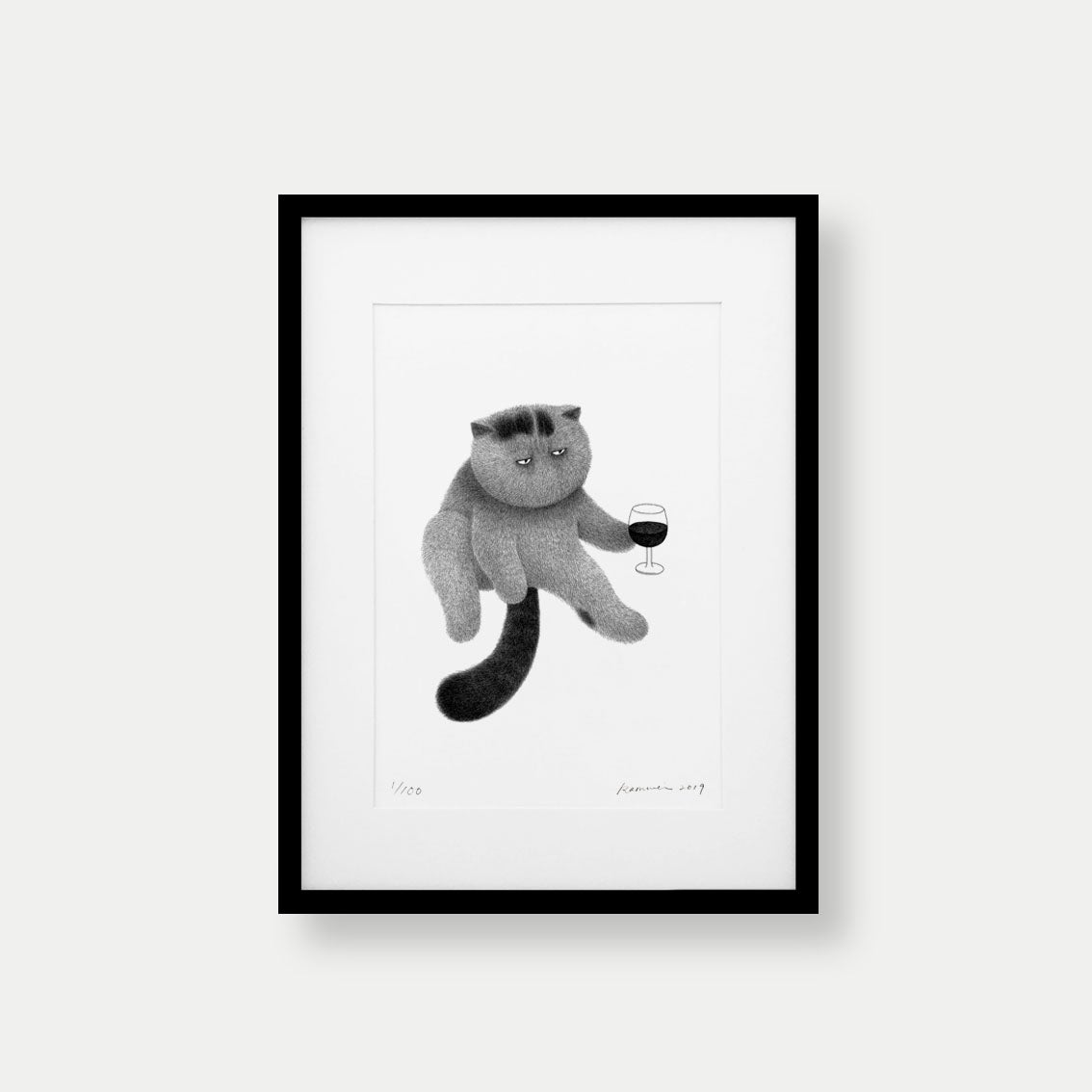Image of Kitty No.39 – A4 Limited Edition Print