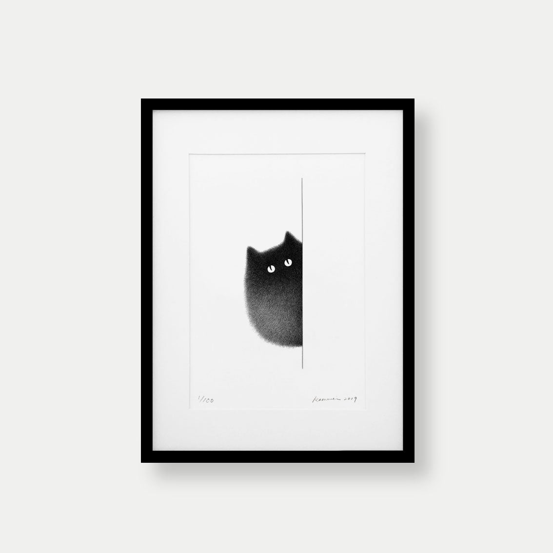 Image of Kitty No.50 – A3 Limited Edition Print