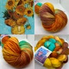 Made to Order: Vincent's Sunflowers on Various Yarn Bases & Roving