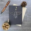 Manchester Bee keepsake and card