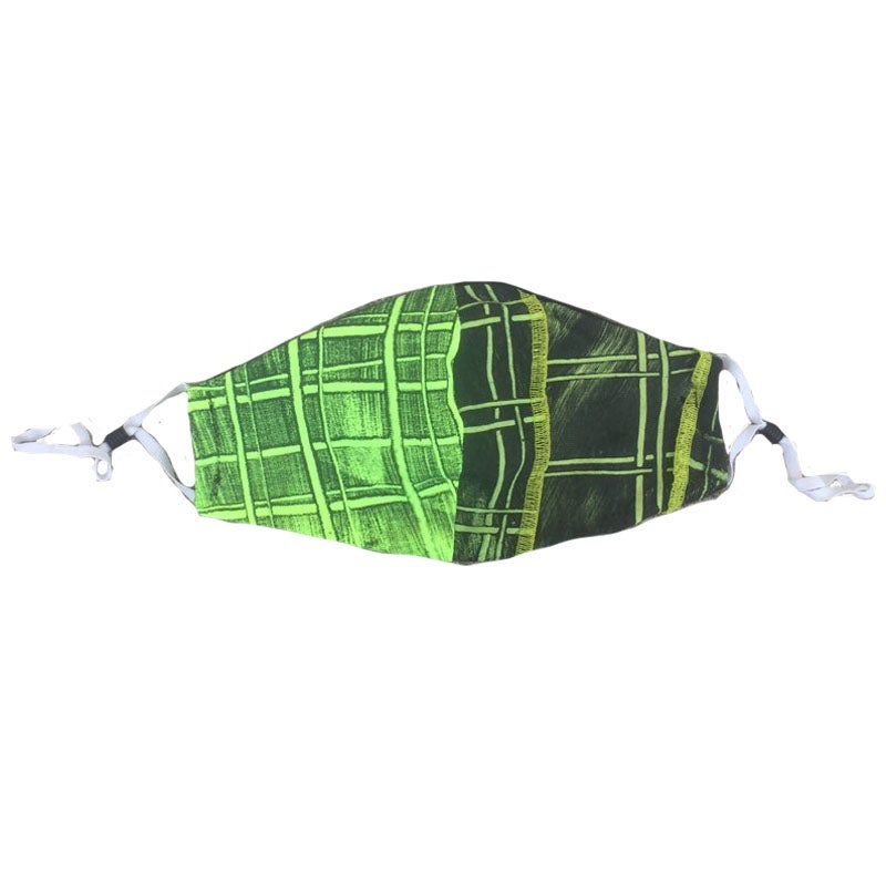 Double Green Plaid Mask