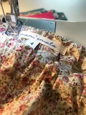 Image of Bloomer & petite jupe fileurs rose thé & kaki