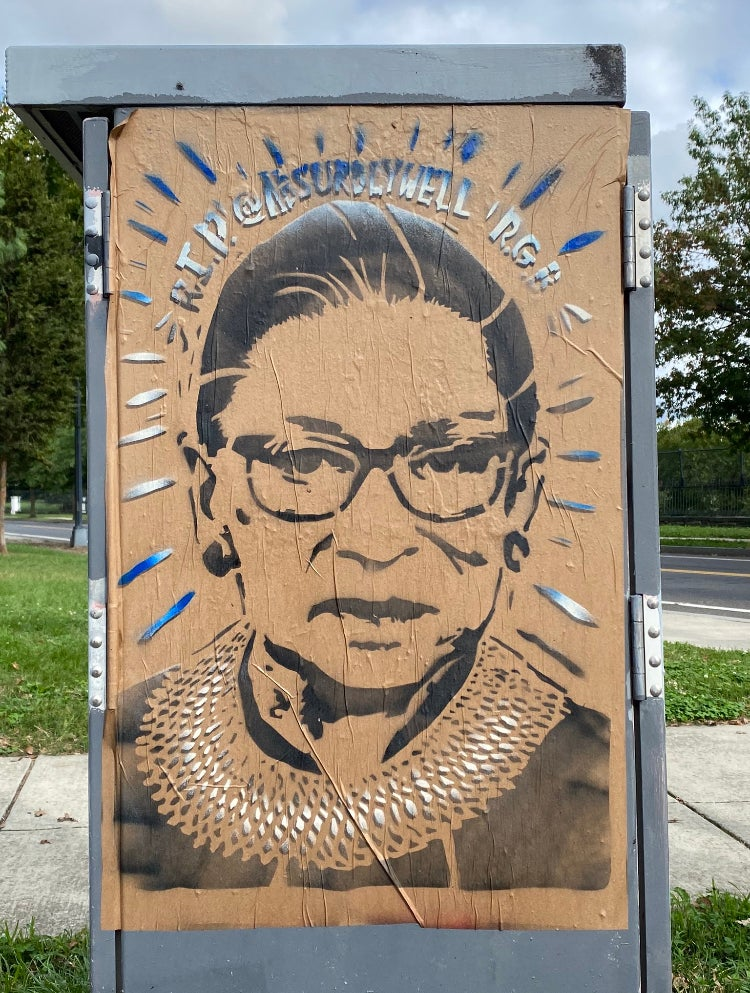Image of Ruth Bader Ginsburg Memorial Poster
