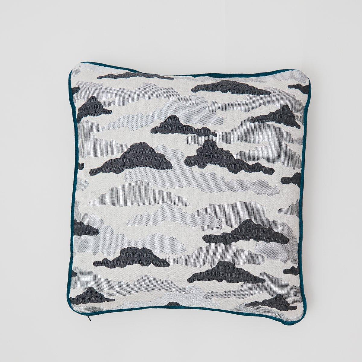 Clouds Silk Cushion Grey