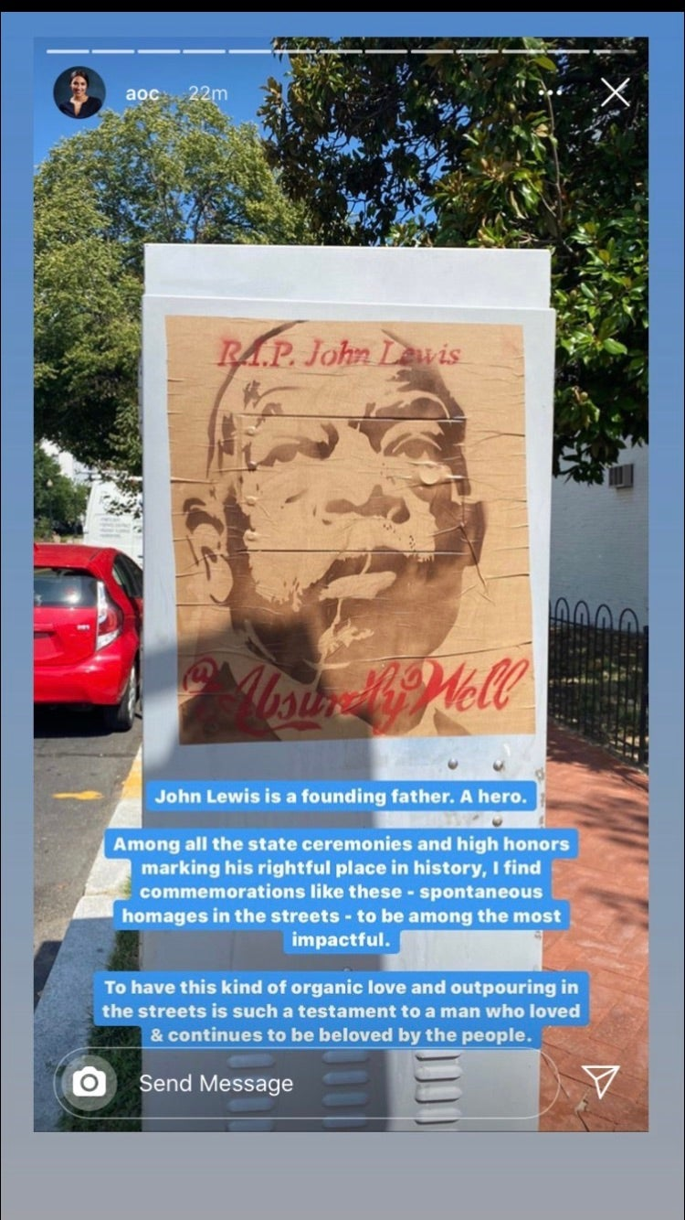 Image of John Lewis Memorial Poster