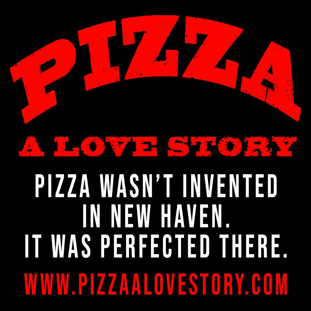 Image of Pizza, A Love Story poster, sticker, magnet & pen