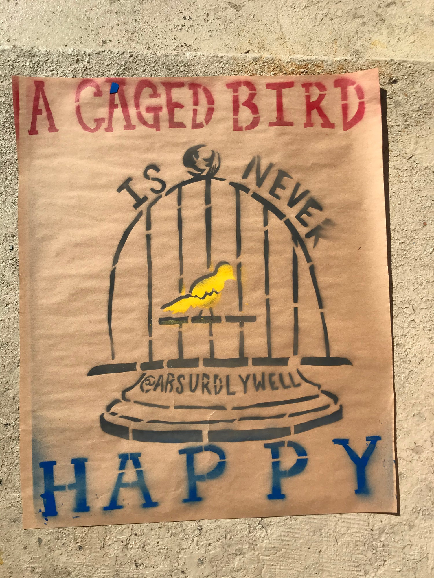 Image of Caged Bird Poster