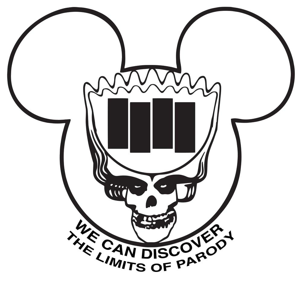 "Image of ""Limits of Parody"" Sticker"