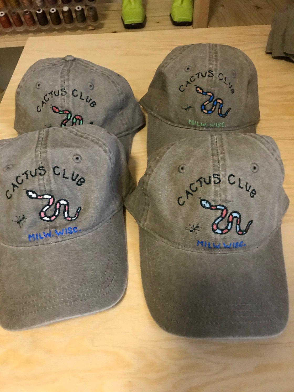 Image of Artist Series: Kirsten Schmid embroidered baseball caps