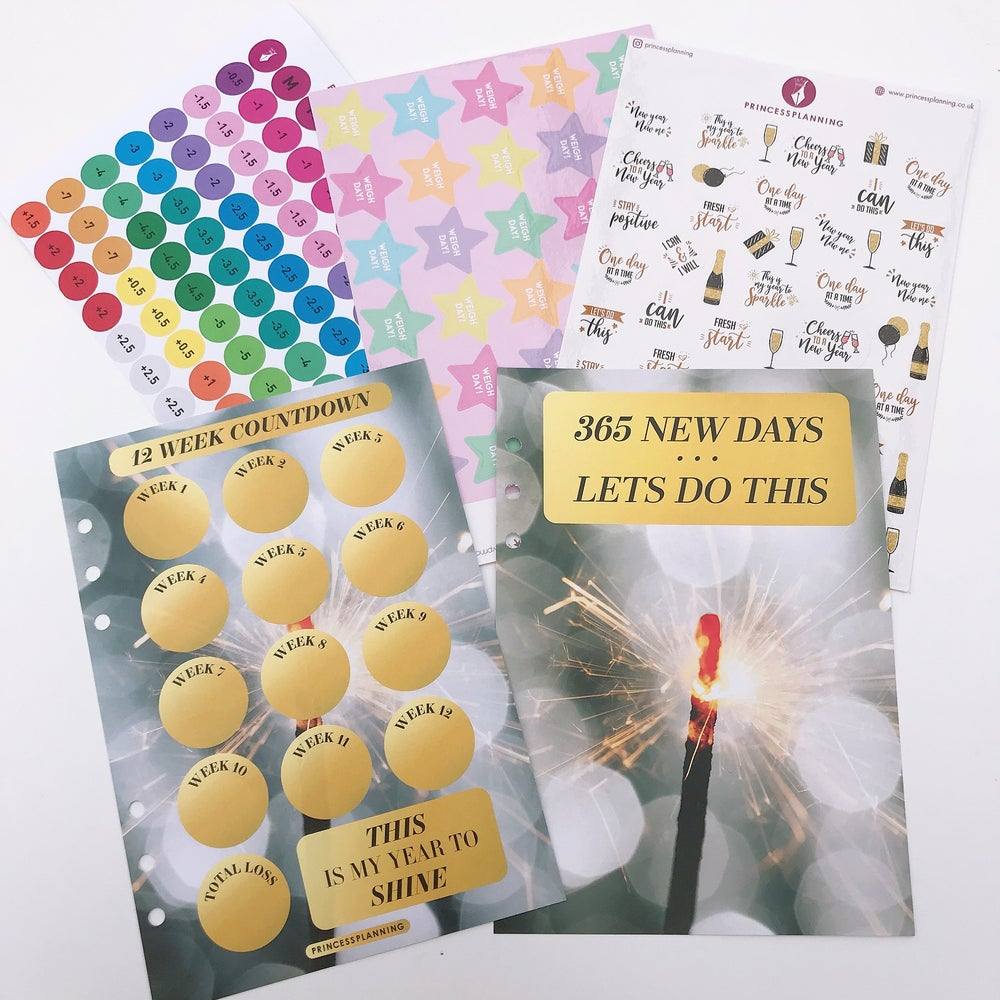 Image of 365 NEW DAYS LETS DO THIS  FOOD DIARY ORGANISER BUNDLE