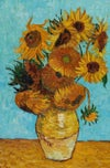 """Made to Order """"Vincent's Sunflowers"""" on Wool Roving"""