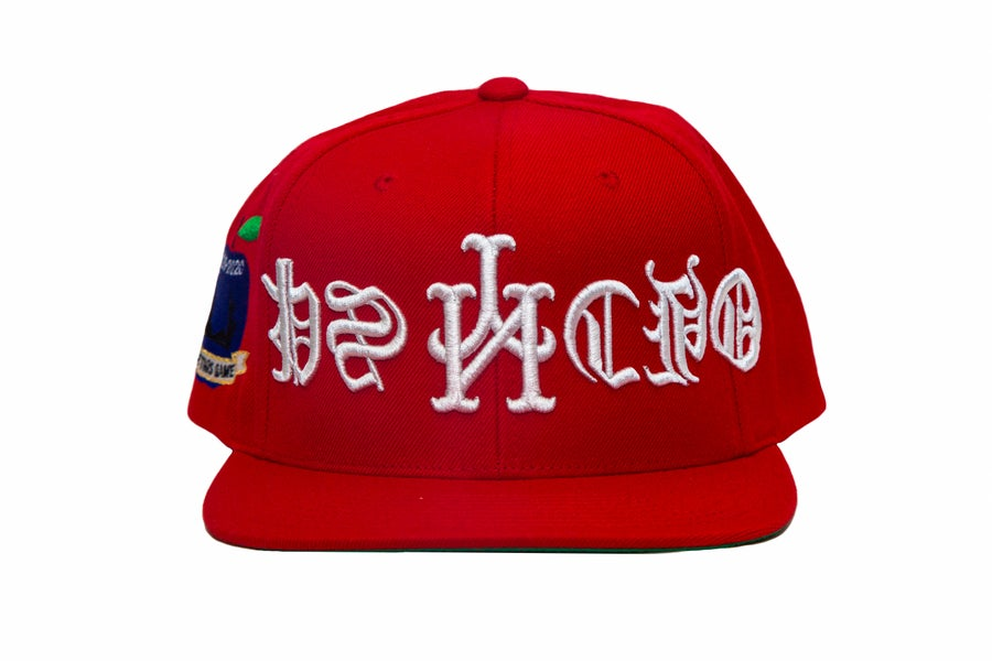Image of Red Upside Down Psycho SnapBack