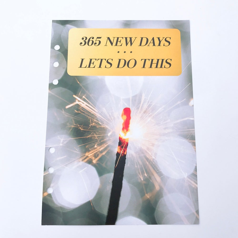 Image of A5 FOOD DIARY ORGANISER INSERTS 365 NEW DAYS LETS DO THIS
