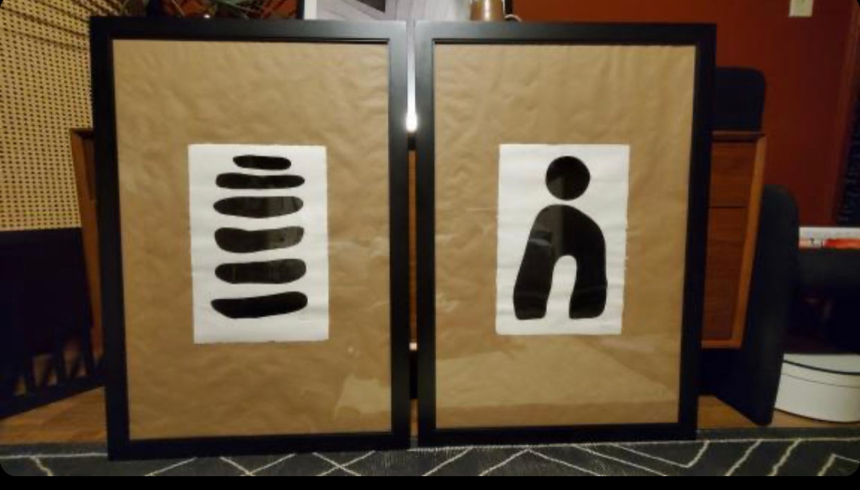 Image of ML Art Shape Collection (2 Paintings) or $500 each