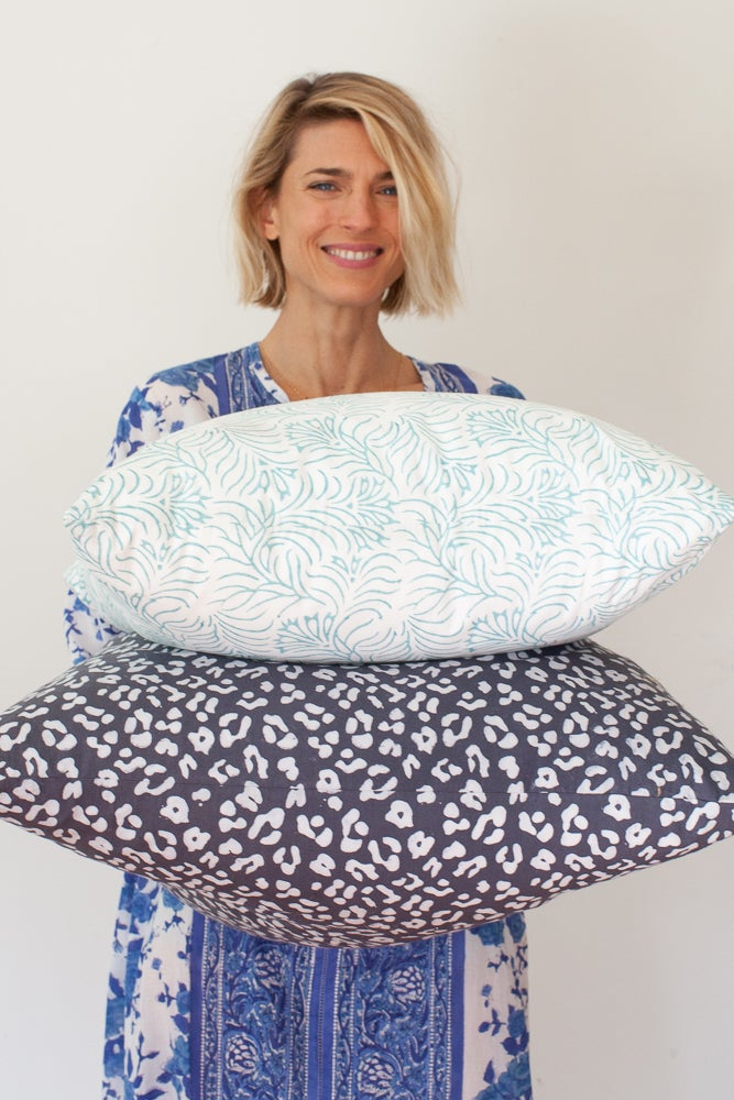 Image of Decorative Throw Pillows + Fabric by the Yard